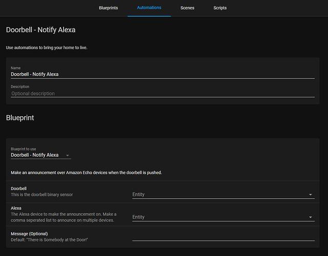 Doorbell - Notify Alexa