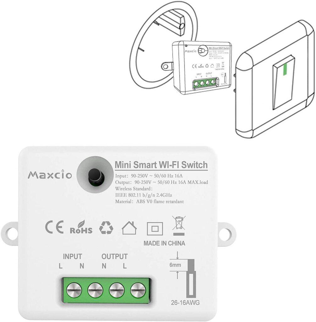 Neu Wifi WLAN Switch Smart Schalter für Alexa APP-Steuerung Automation Schalter