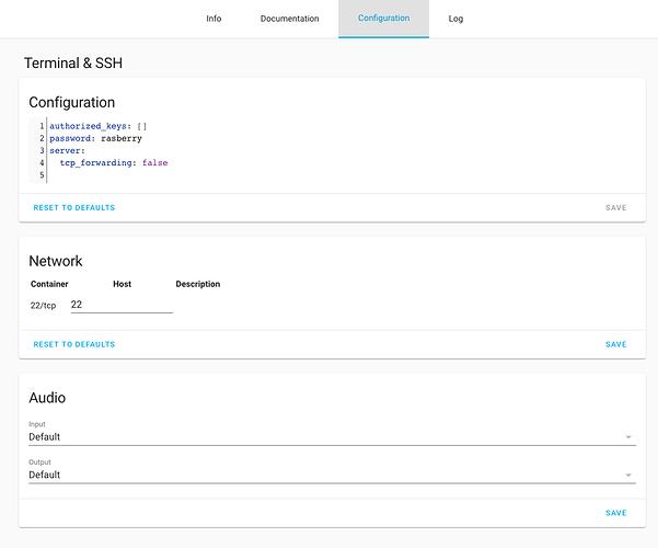 ssh-add-on-configuration