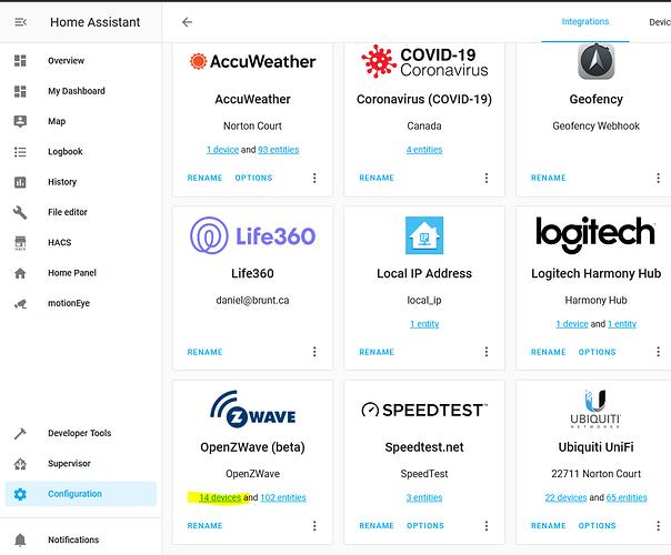 OpenZWave Integration