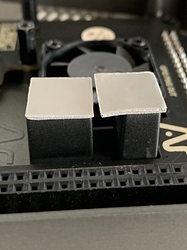 The thermal pads and the heatsink