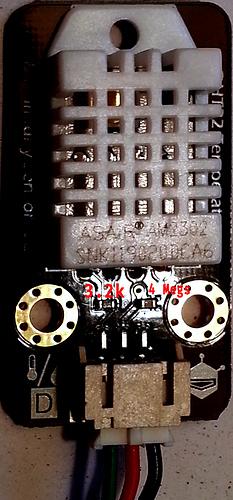 DHT22 resistors