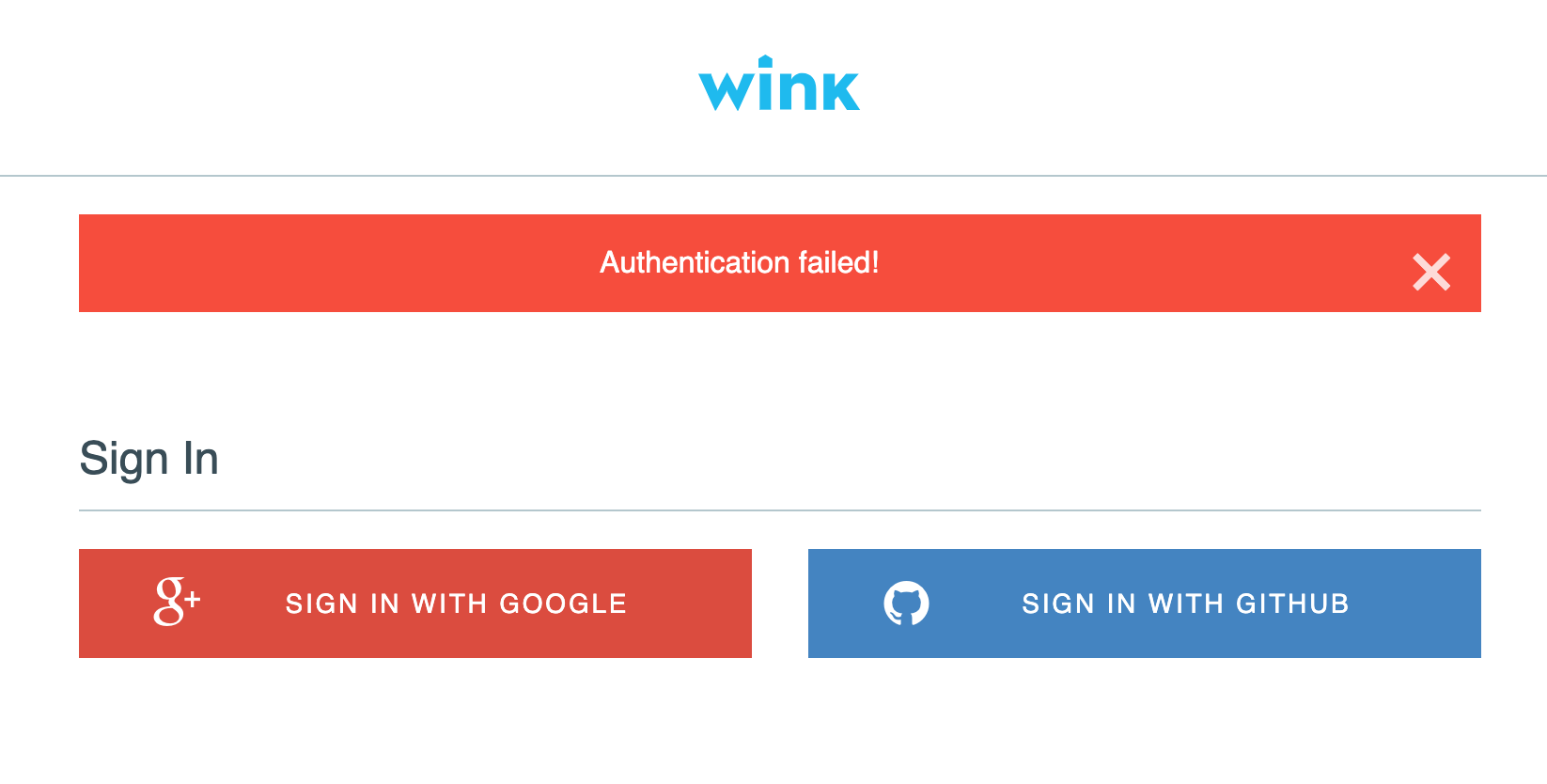 In wink sign WINK