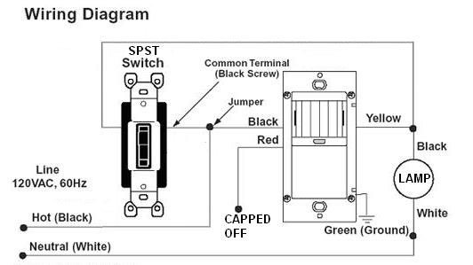 motion sensor integrated light wiring diagram  hardware