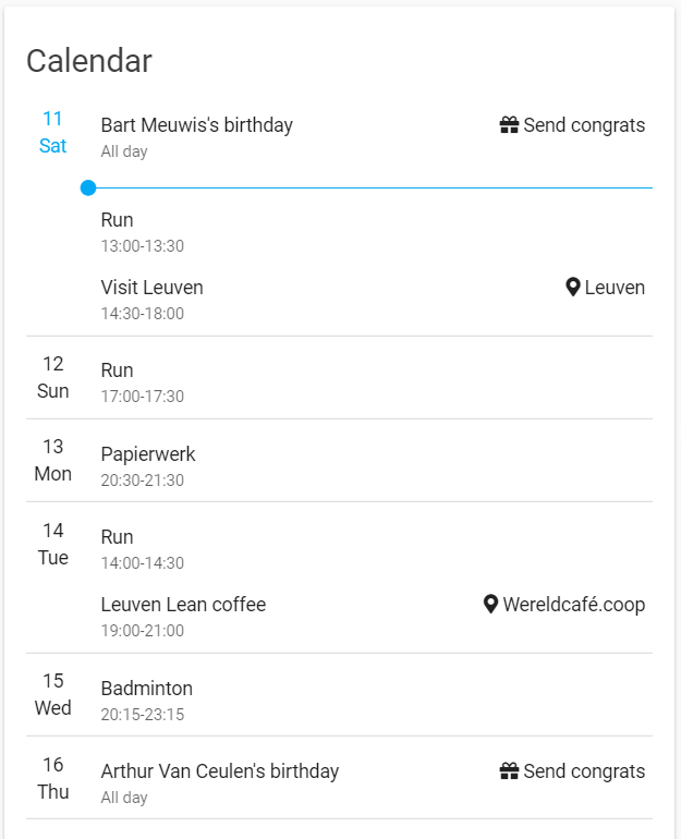 Lovelace Google Calendar Share Your Projects Home Assistant Community